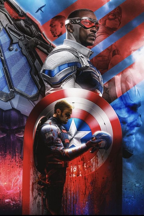 Falcon and The Winter Soldier 'Cap' Poster - 11 x 17