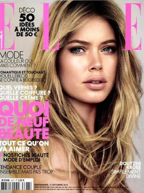This Dutch beauty Doutzen Kroes looks like she`s the Barbie mold after which Barbie was created. She`s so beautiful!
