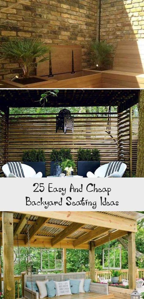 25 Easy And Cheap Backyard Seating Ideas Backyard Seating