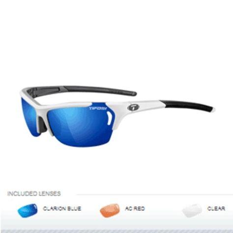 Tifosi Radius Interchangeable Sunglasses - White/Gunmetal