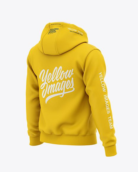 Download Men S Pullover Hoodie Back Half Side View Of Hooded Sweatshirt In Apparel Mockups On Yellow Images Object Mockups Hoodies Men Pullover Clothing Mockup Hoodie Mockup