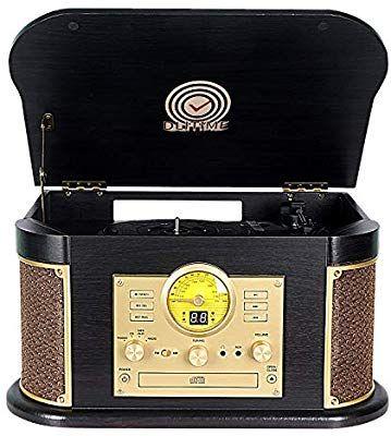 Amazon Com Cassette Record Player Phonographs Dlitime 3 Speed Vinyl Turntable Built In 2 Bluetooth Speakers Headpho In 2020 Bluetooth Headphones Phonograph Headphone