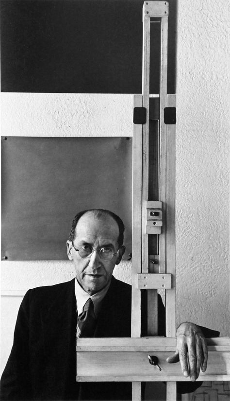 Piet Mondrian, 353 East 56Th Street, New York, NY, 17 January 1942. By Arnold Newman.