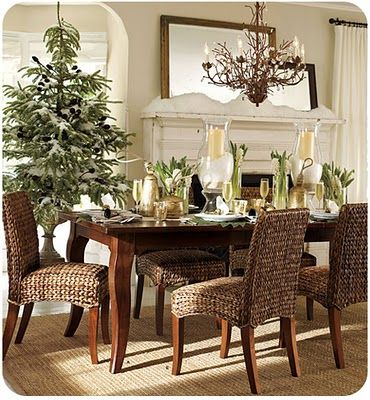 Chistmas Holiday Home Decor Inspiration Interior Exterior Custom Dining Room Table Settings Exterior