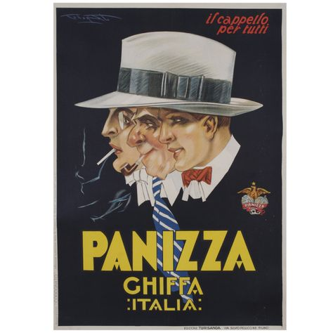 ITALY MAN HAT BORSALINO ANTICA CASA MEN/'S FASHION ITALIAN VINTAGE POSTER REPRO