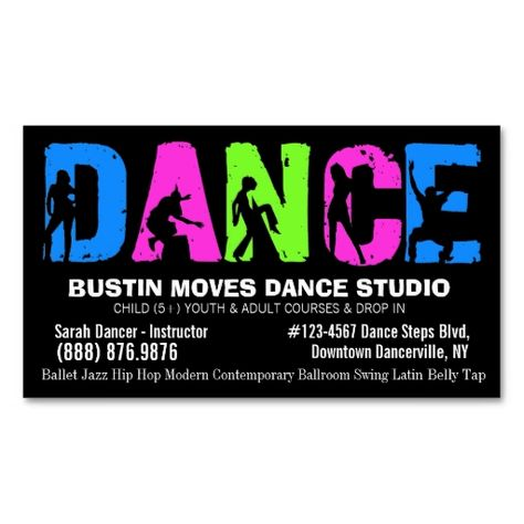 Afrocentric Dancer Ballerina Professional Stylist Business Card - dance instructor job description
