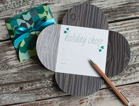 Printable Urban Holiday Petal Card