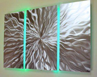 Fracture Metal Wall Art Lighted Wall Art Metal Wall
