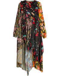 Balenciaga | Romantic Ascot Patchwork Midi Dress | Lyst