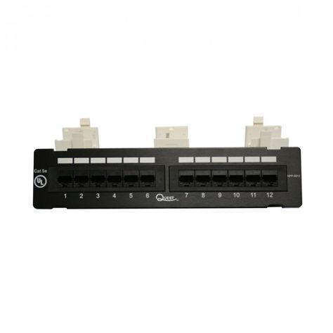 Quest Offers 12 Port Wall Mount Patch Panels For The Smaller Installation Requiring Less Ports These Patch Panels Come Mounting Blocks Box Camera Patch Panels