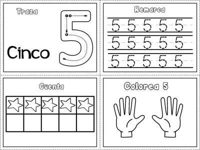 Grafomotricidad Numeros Del 1 Al 10 Con Imagenes Aprendizaje