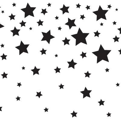 Tempaper Falling Stars White Black Wallpaper Border Tk608 The Home Depot Falling Stars Black And White Stars Kids Falling
