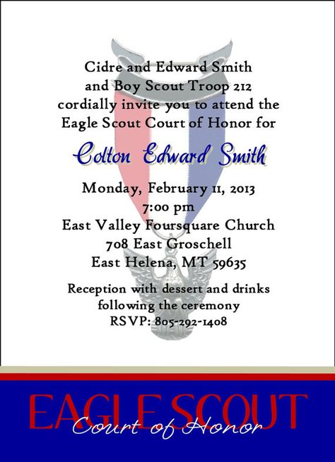 Eagle Scout InvitationCommitment white/blue by ItsAllAboutTheCards, $15.00