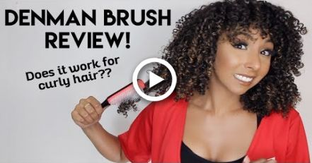 Denman Brush Review Is It Good For Curly Hair Biancareneetoday Denman Brush Curly Hair Styles Healthy Hair Journey
