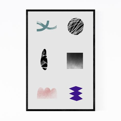 Noir Gallery Abstract Minimal Geometric Shape Framed Art