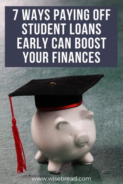 7 Ways Paying Off Student Loans Early Can Boost Your Finances Paying Off Student Loans Student Loans Education Savings Plan