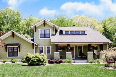 Plan 970012vc Charming Craftsman With Two Story Den Craftsman House Plans Architectural Design House Plans Craftsman House