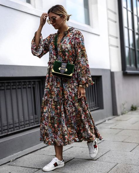 15 Long Sleeve Dresses for Fall Langarm Kleid / Street Style Mode / Source by .
