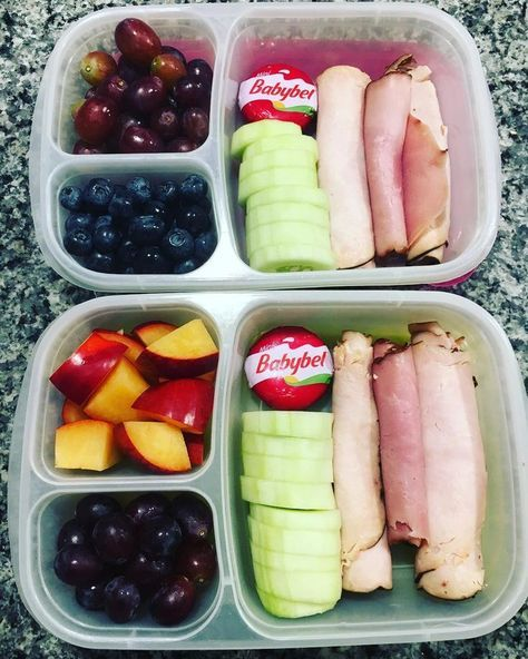 "Teacher Lunch Time on Instagram: ""I've been on a bit of a deli meat kick. This is lunch for the first two days of a kindergarten teacher, I just swapped out some fruit to…"""
