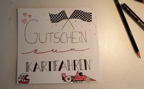 Kart Fahren Geburtstag Geschenk Karten Gutschein Basteln