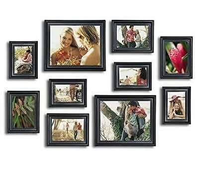 Details About 10 Piece Picture Frame Set Photo Frames Set Matte Black In 2020 Picture Frame Sets Wall Frame Set Picture Frames