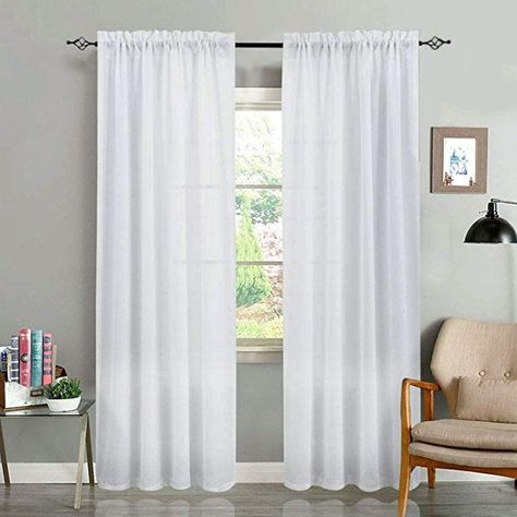 Weave Textured Semi Sheer Curtains