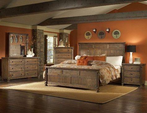 wohnideen schlafzimmer teppich hölzerne möbel orange wände Bed - schlafzimmer orange