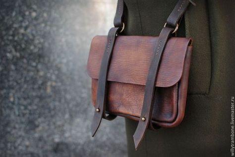 fb2edd3bf30f Женские сумки ручной работы. Ярмарка Мастеров - ручная работа. Купить  маленькая. Handmade. Кожаная сумка, латунная фурнитура