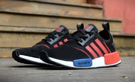 check out c53d4 5eeec Discount Sport Shoes Adidas NMD Men Fur Black Red Blue Hot Sell