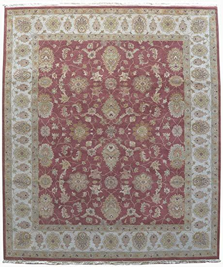 Traditional Hand Knotted Nepali Rug 8 X 10 Area Rug 10 X 10 Knot Ivory Color Woollen Rug 8 Feet X 10 Feet Rug In 2020 Rugs Area Rugs Hand Knotted