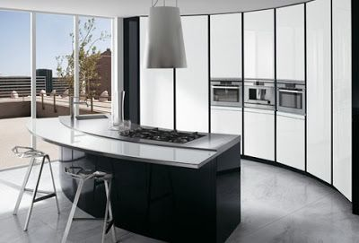 Modern Curved Kitchen Designs Kitchen Islands Curved Cabinets By