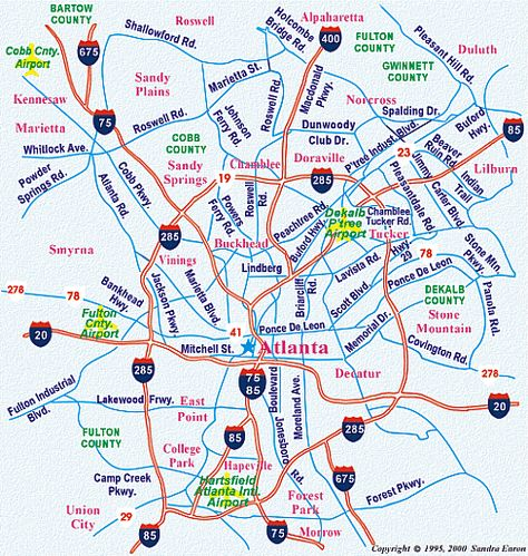 Atlanta Metro Map Httptravelsfinderscomatlantametromap - Georgia map duluth