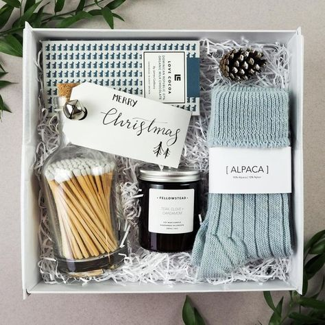 Hygge Christmas Gift Box: Candle, chocolate, lip gloss, and matches Birthday | Party | Celebration | Design | Inspiration | Gift | Love | Holidays | Special | Day | Present