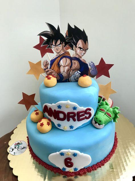 Goku Vegeta Dbz Dbs Fondantcake Pasteles De Goku Pastel De Dragon Ball Pastel De Cumpleanos