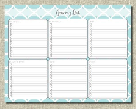 grocery list template created a generic list as a free printable - grocery list form