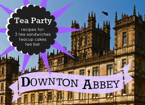 If you want to throw a party Downton Abbey style, a tea party is the proper choice! Gather the girls together and go for it, dress the part if you like, and enjoy an afternoon of tea and conversation. Below is a menu with recipes for a trio of tea sandwiches, and our Teacup Cakes dessert idea. All proper English fare! Plus, we have tons of tips for setting up your own 'tea bar'. Go…