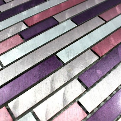 Echantillon Aluminium Blend Violet Carrelage Mosaique Salle De