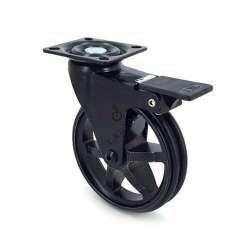 Roulette Design En Aluminium Noir Brosse A Frein Diametre 100mm Charge 55kg Blackstyl 100paf En 2020 Roulette Pour Meuble Table Basse Roulette Mobilier De Salon