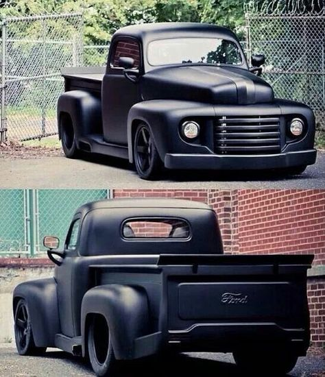 Matte Black Truck Chevy Hot Rods 55 Trendy IdeasYou can find Hot rod trucks and more on our website. Custom Pickup Trucks, Old Pickup Trucks, Hot Rod Trucks, Big Trucks, Lifted Trucks, Pickup Camper, Lifted Chevy, Cars And Trucks, Chevy 4x4