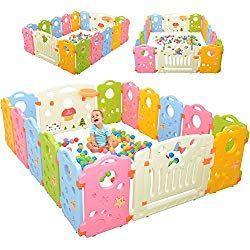 Colorful Baby Playpen 8 Panel Kids Activity Centre Portable Play Yard Baby Fence