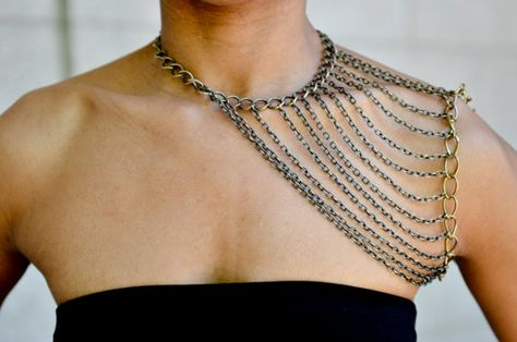 Shoulder Elegance Chain by CanDidArtAccessories on Etsy, $64.00