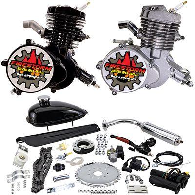 chrome VOODOO muffler pipe 80cc Motorized bike GAS ENGINE parts
