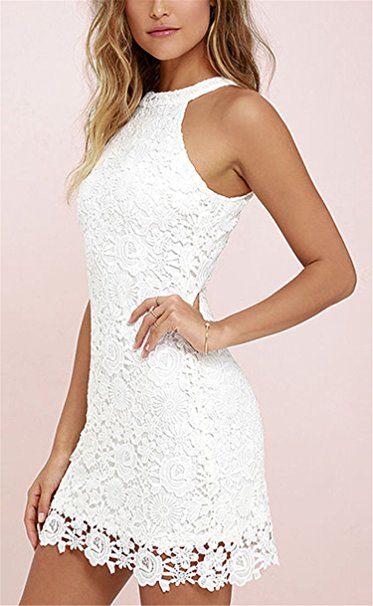 online store c7f6a 43d46 Damen Kleid LOBTY Sommer Kurz Etuikleid Spitzekleid ...