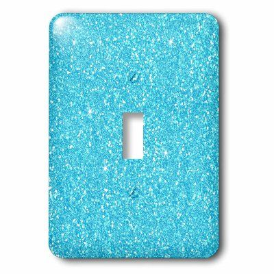 3drose Glittery Looking Socket Plate Finish Blue White Plates On Wall Butterfly Sheets Toggle Light Switch