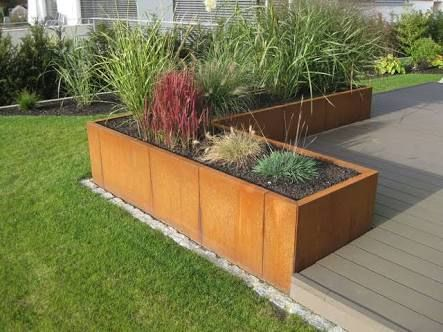 Image Result For Cortenstahl Hochbeet Backyard Garden Design Outdoor Gardens Garden Design
