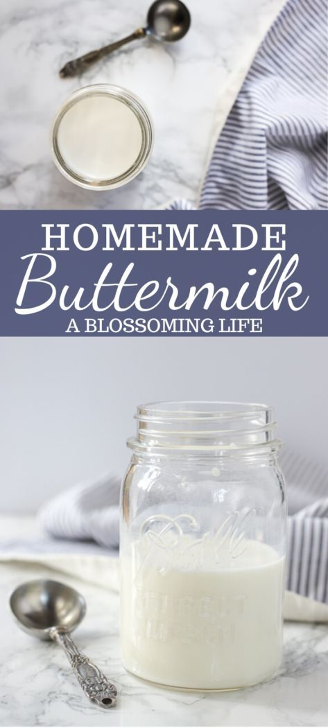 Learn How To Make Homemade Buttermilk With Just Two Ingredients You Already Have Next Time You Come Across A Homemade Buttermilk Buttermilk Recipes Buttermilk