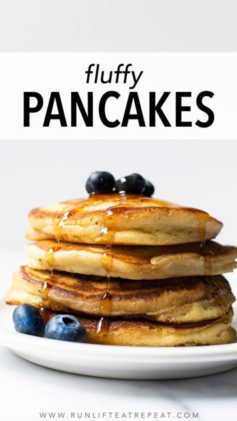 Homemade Fluffy Pancakes