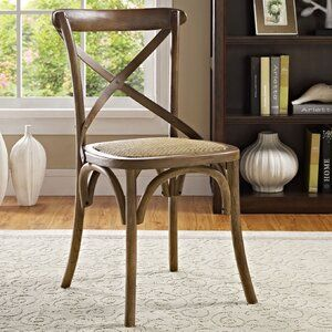 Gayla Solid Wood Cross Back Side Dining Chair Side Chairs Dining Dining Chairs Solid Wood Dining Chairs