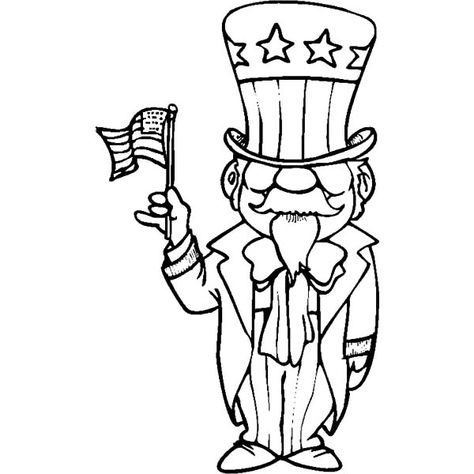 american uncle sam flag day coloring pages  download