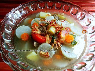 Resep Sayur Sup Lobak Bening Daging Sapi Punch Bowls Bowl
